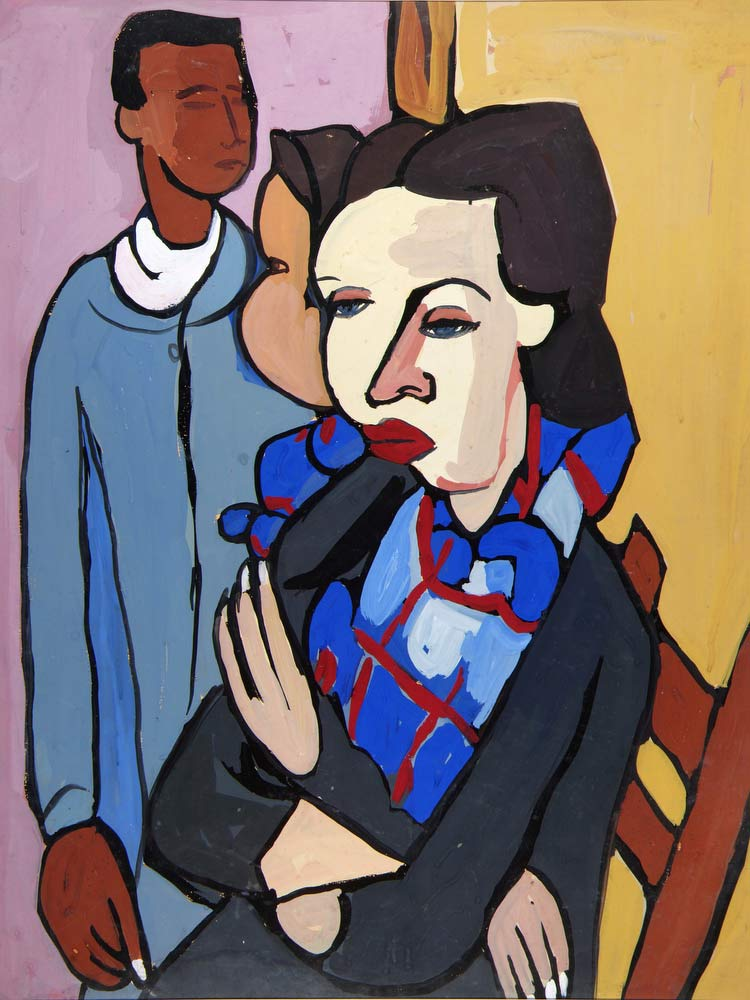 Artist And Model William H Johnson