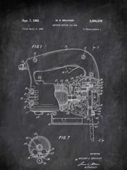 Arguate Notion Jig Saw W S Brucker 1960 Tools by Patent