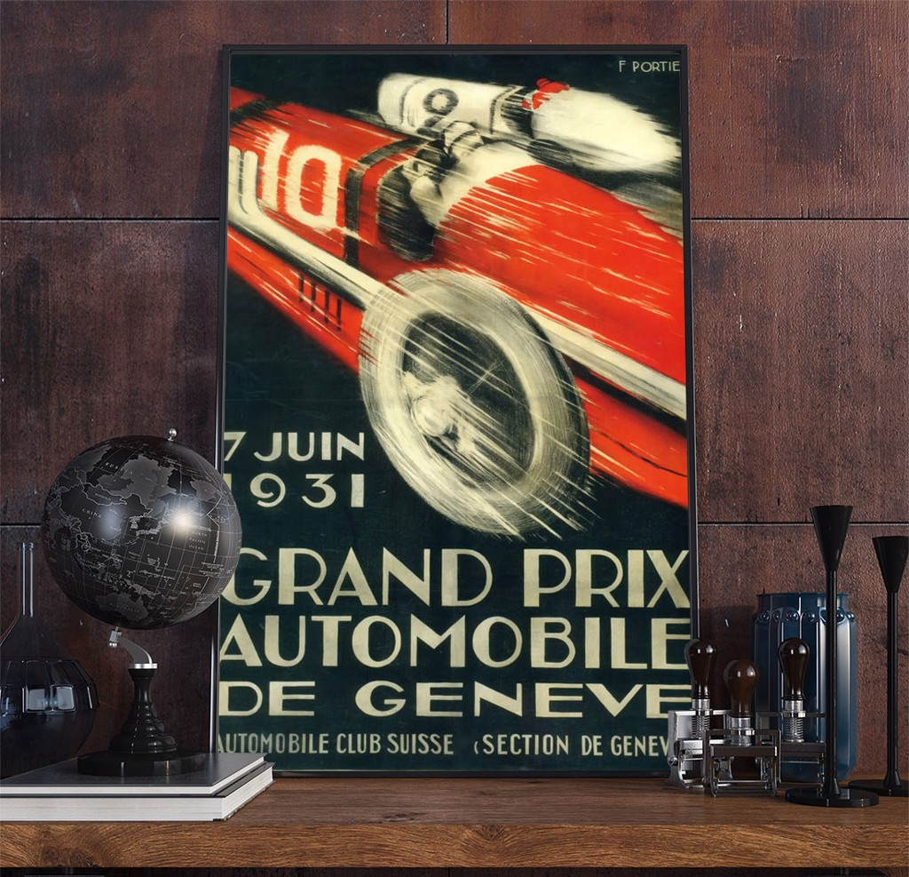 22racing Art Deco Poster