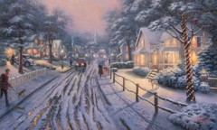 Hometown Christmas Memories By Thomas Kinkade