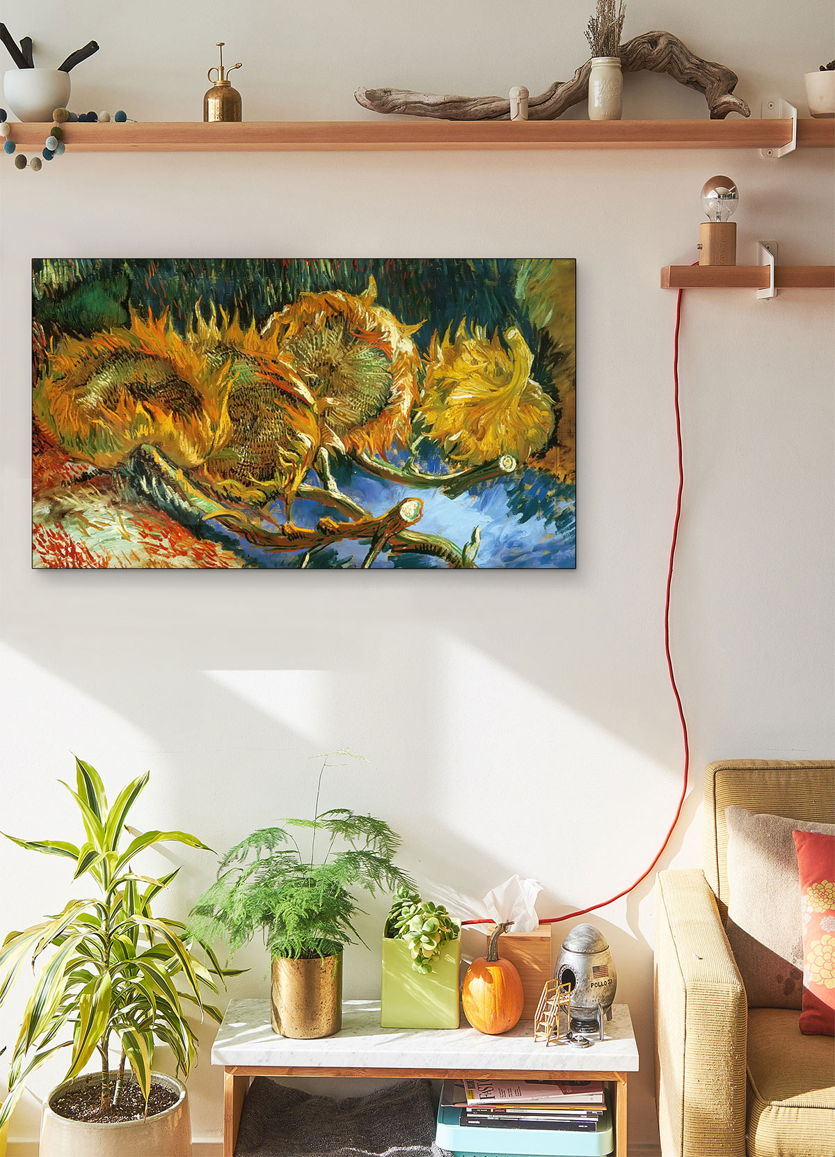 Four Sunflowers Gone To Seed Vincent Van Gogh