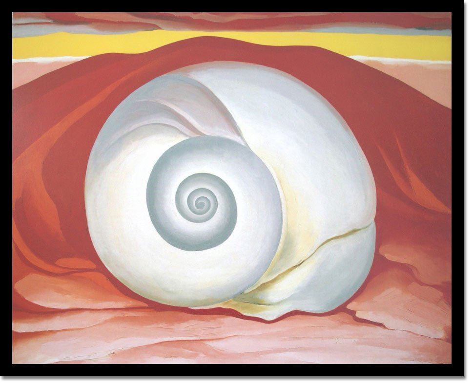 Red Hill And White Shell by Georgia O Keeffe