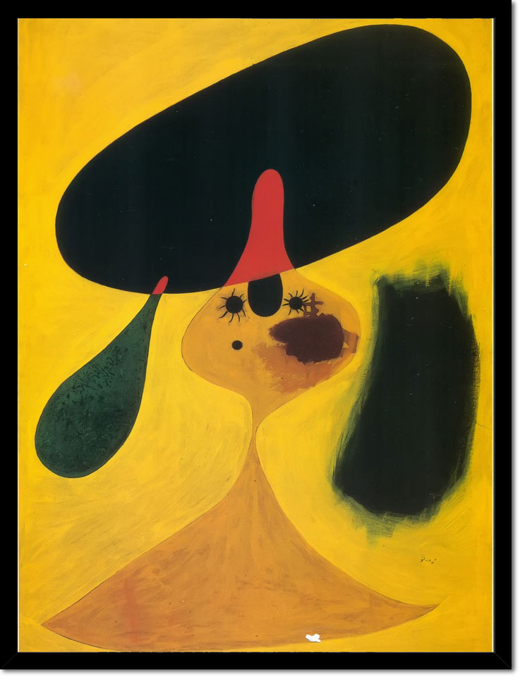 Portrait Of A Young Girl 1935 by Joan Miro