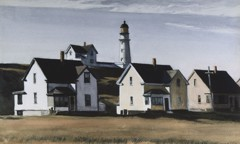 Lighthouse Hill Cape Elizabeth Maine by Edward Hopper