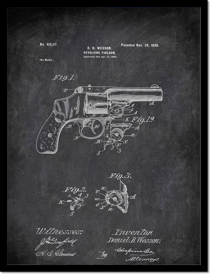 Revolving Firearm D B Wesson 1898 Military by Patent