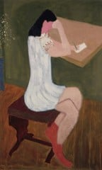 Girl Writing by Milton Avery