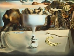 Apparition Of Face And Fruit Dish On A Beach by Salvador Dali
