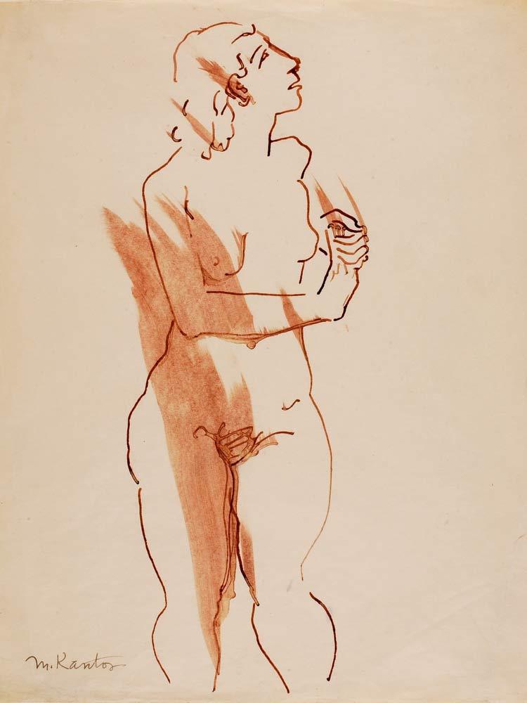 (Untitled  Standing Nude) Morris Kantor
