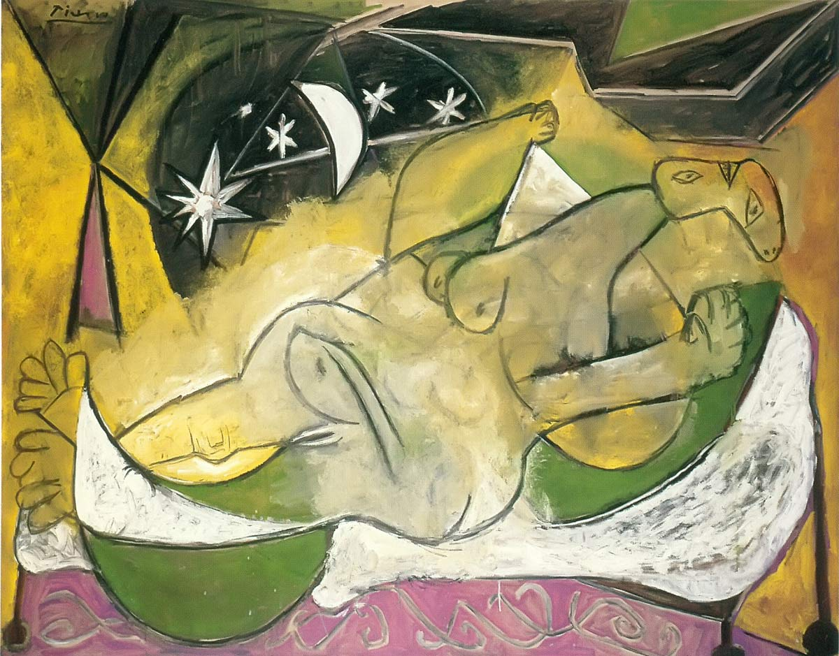 Nude Woman Sleeping Under A Starry Sky Pablo Picasso