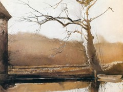 Flat Boat by Andrew Wyeth