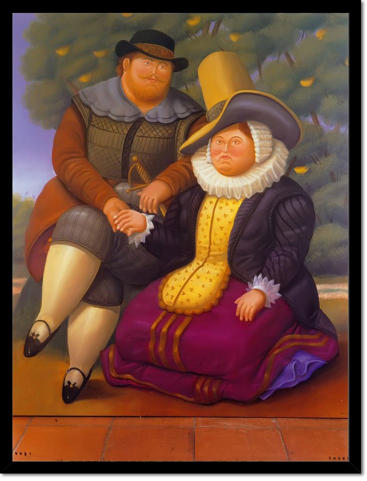 Rubens And His Wife by Botero