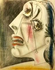 Weeping Woman Vi 1937 Pablo Picasso