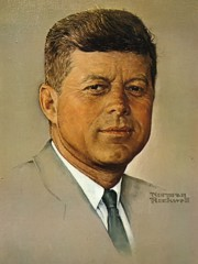 Portrait Of Kennedy by Norman Rockwell