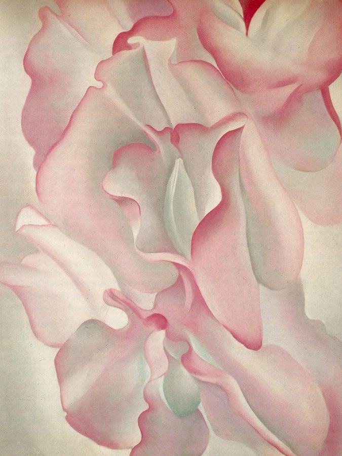 Pink Sweet Peas by Georgia O Keeffe