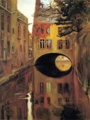House On The Bridge by Diego Rivera