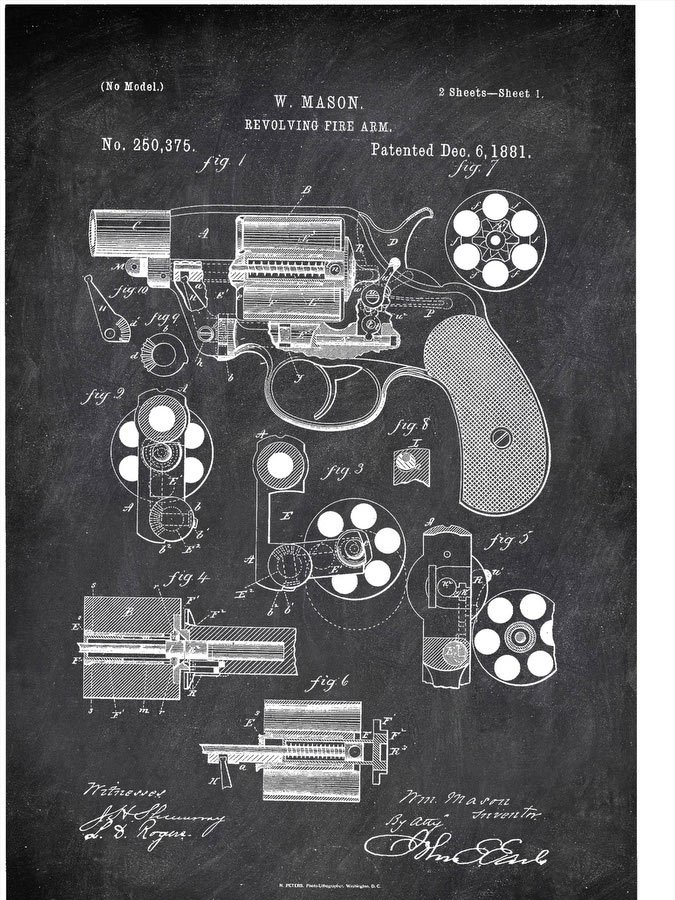Revolving Fire Arm Mason Military by Patent
