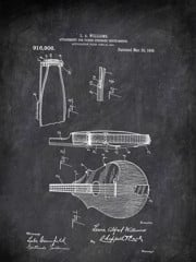 Attachmest For Picked Stringed Instruments L A Williams 1909 Music by Patent