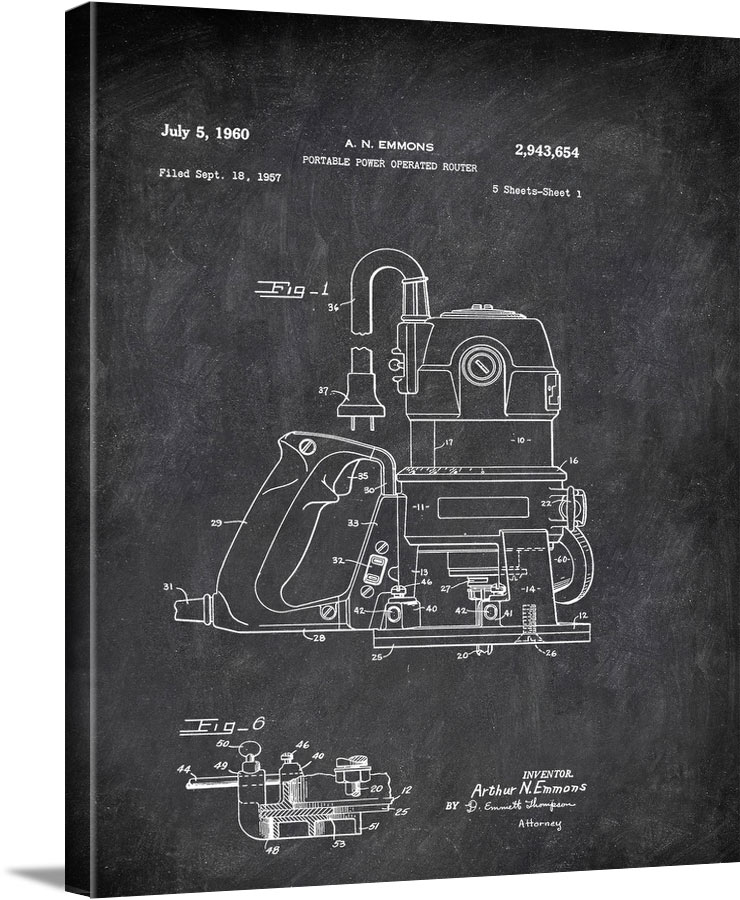 Portable Power Operatedouter A N Emmons 1957 Tools by Patent