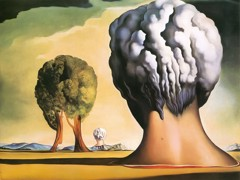 The Three Spinxes Of Bikini by Dali