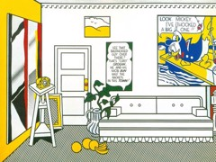 Artist's Studio Look Mickey by Roy Lichtenstein