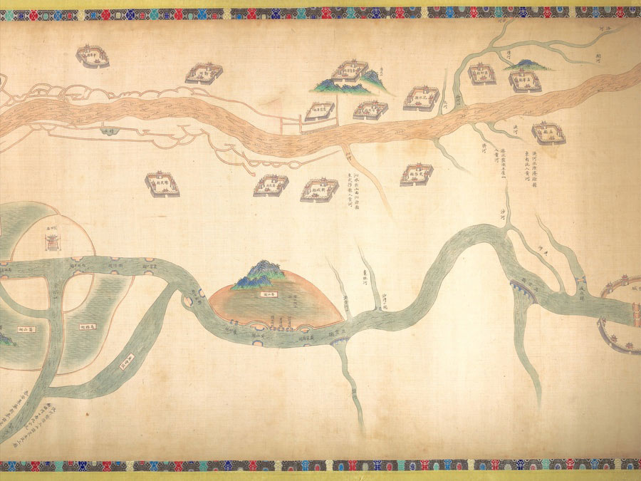 Map Of The Grand Canal From Beijing To The Yangzi River - Vintage Asia Maps