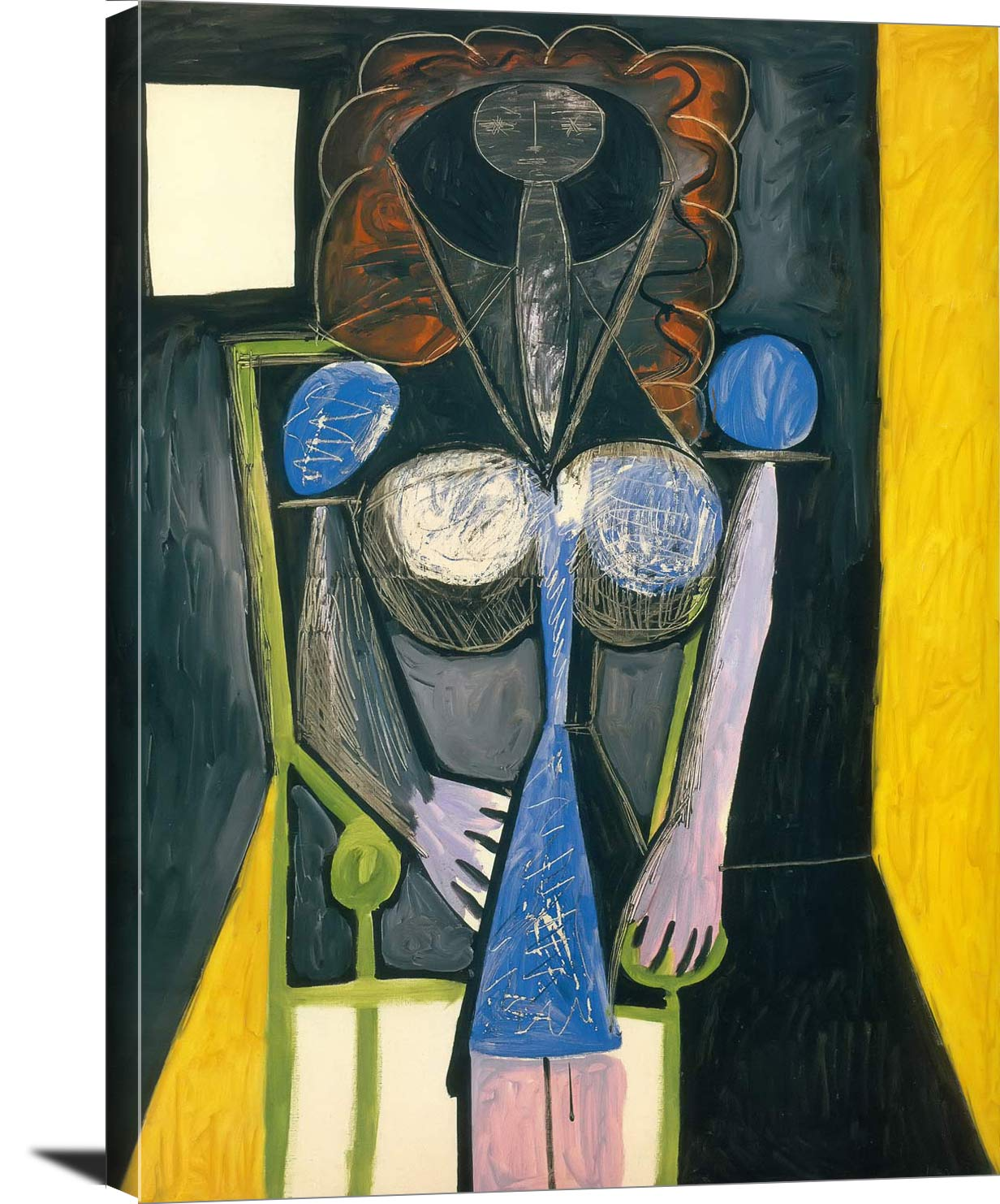 Seated Woman 1946 Pablo Picasso