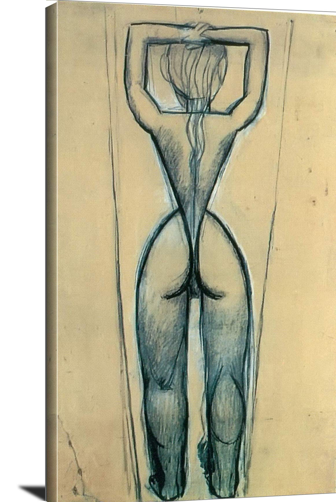 Nude From The Back With Raised Arms Pablo Picasso