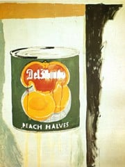 Peach Halves 1962 by Andy Warhol