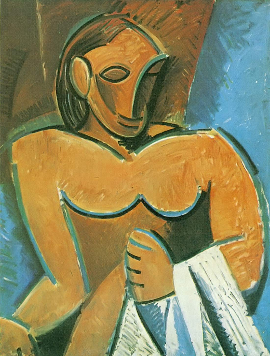 Nude With A Napkin Pablo Picasso