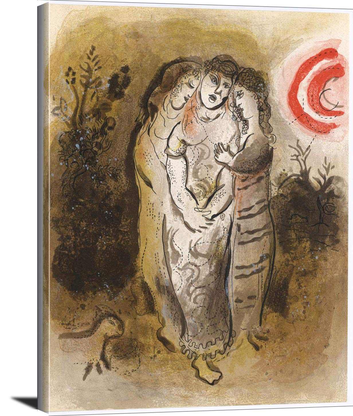 Naomi And Her Daughters In Law Marc Chagall