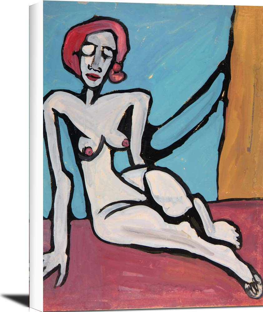 Seated Female Nude With Red Hair William H Johnson