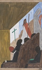 Migration Panel 54 One Of The Main Forms Of Social And Recreational Activities In Which The Migrants Indulged Occurred In The Church by Jacob Lawrence