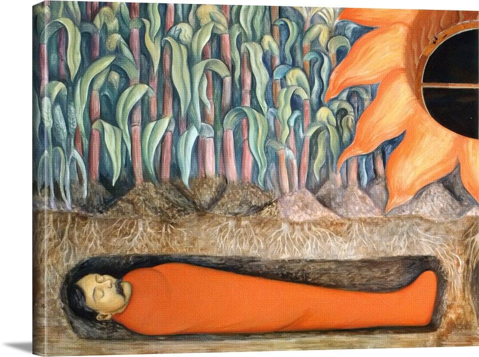 Blossoming Emiliano Zapata And Otilio Montano by Diego Rivera