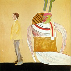 Man In A Museum 1962 by David Hockney