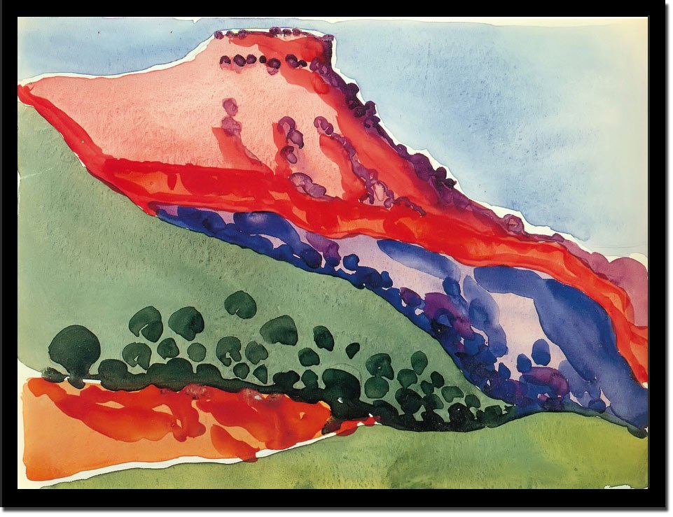 Red Mesa by Georgia O Keeffe