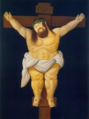 Christ Crucified by Botero