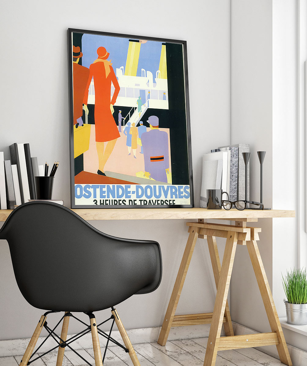 22travel Art Deco Poster