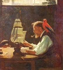 Old Sea Captain by Norman Rockwell