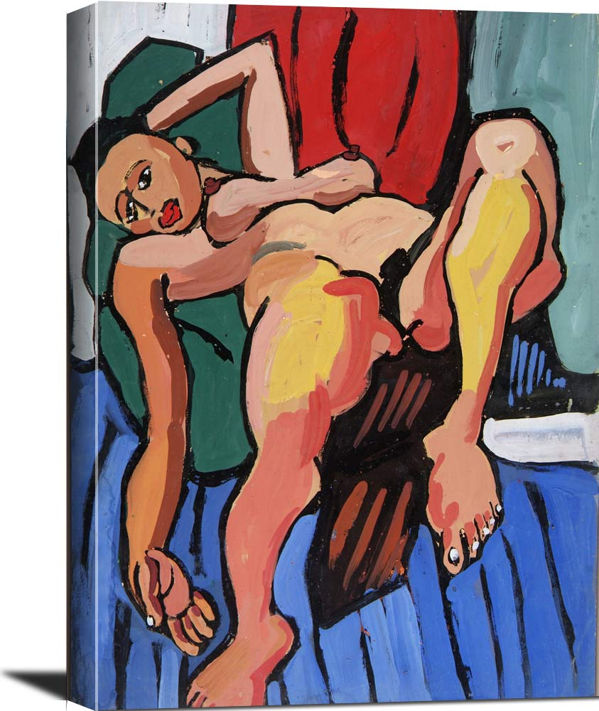 Reclining Female Nude William H Johnson