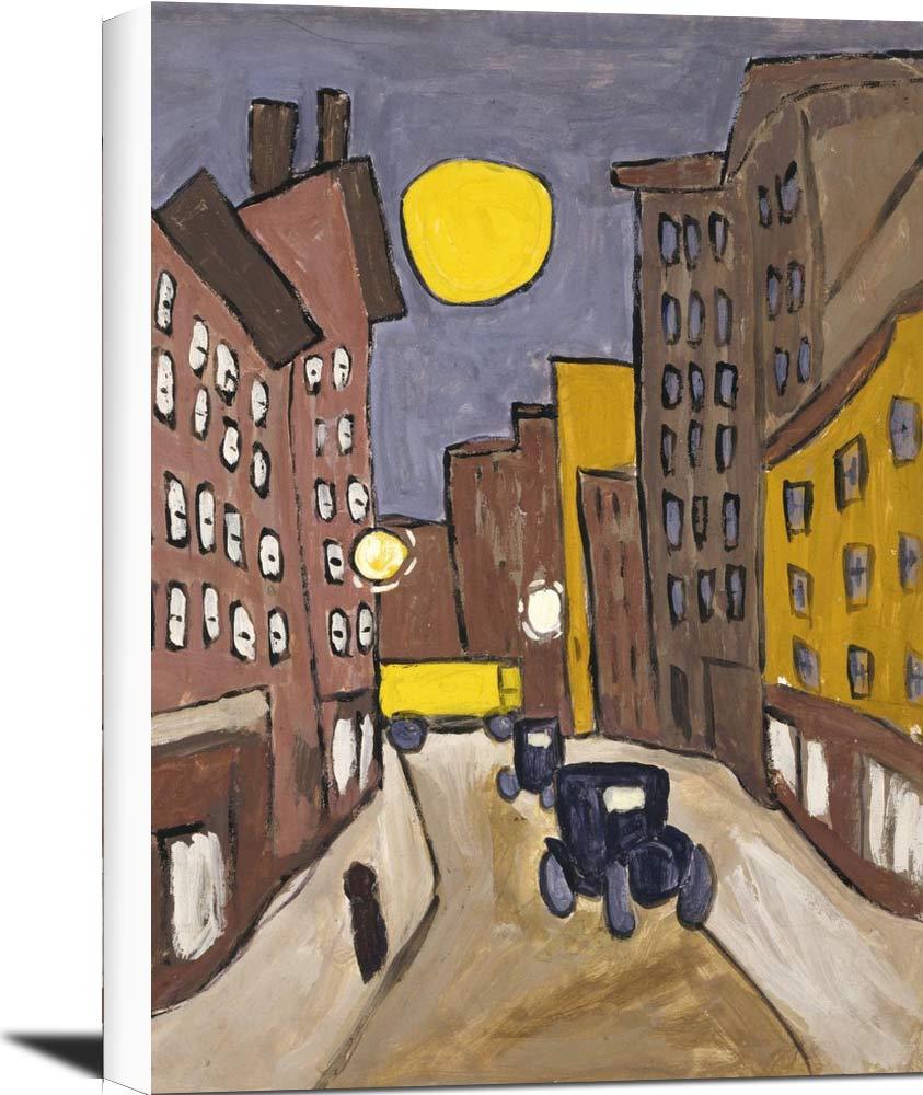 Harlem Street Scene With Full Moon William H Johnson