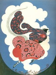 The Pursuit Of Flore by Erte