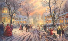 Victorian Christmas Caro By Thomas Kinkade