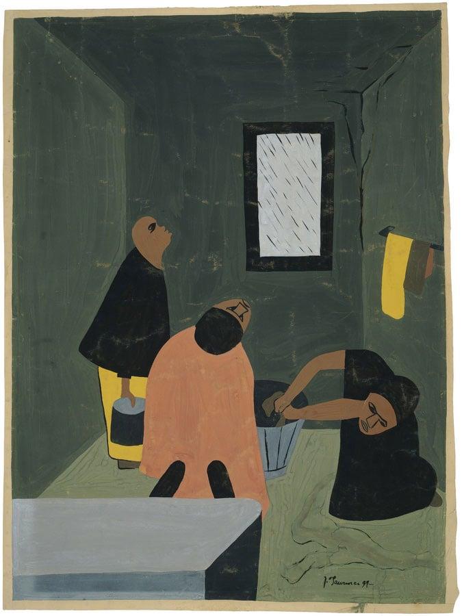 Rain by Jacob Lawrence