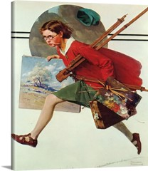 Wet Paint by Norman Rockwell