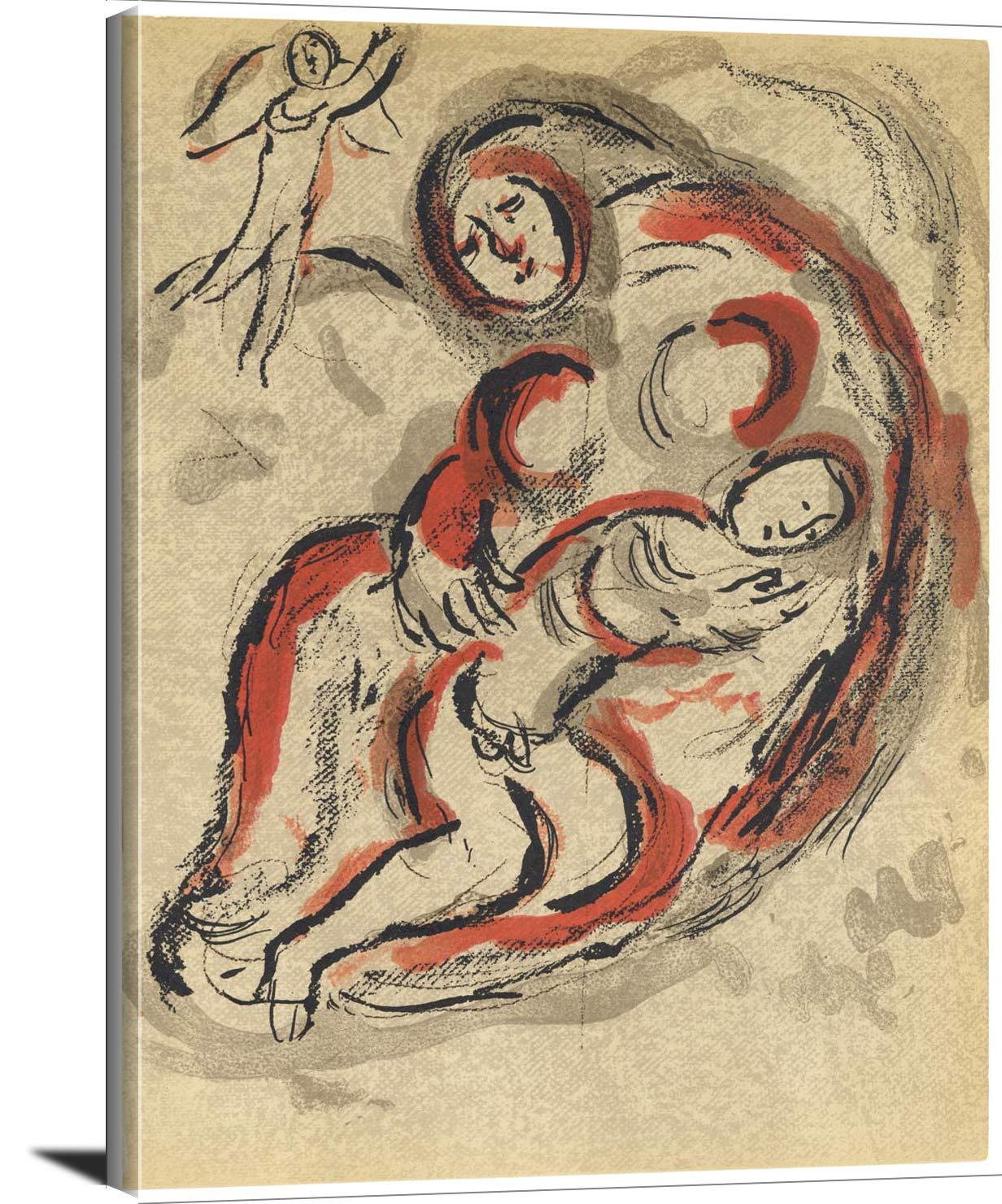 Hagar In The Desert Marc Chagall
