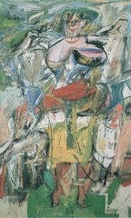 Woman And Bicycle by Williem De Kooning