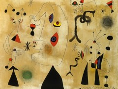 Figures Bird Stars 1 3 1946 by Joan Miro