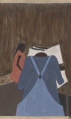 Migration Panel 34 The Negro Press Was Also Influential In Urging The People To Leave The South by Jacob Lawrence