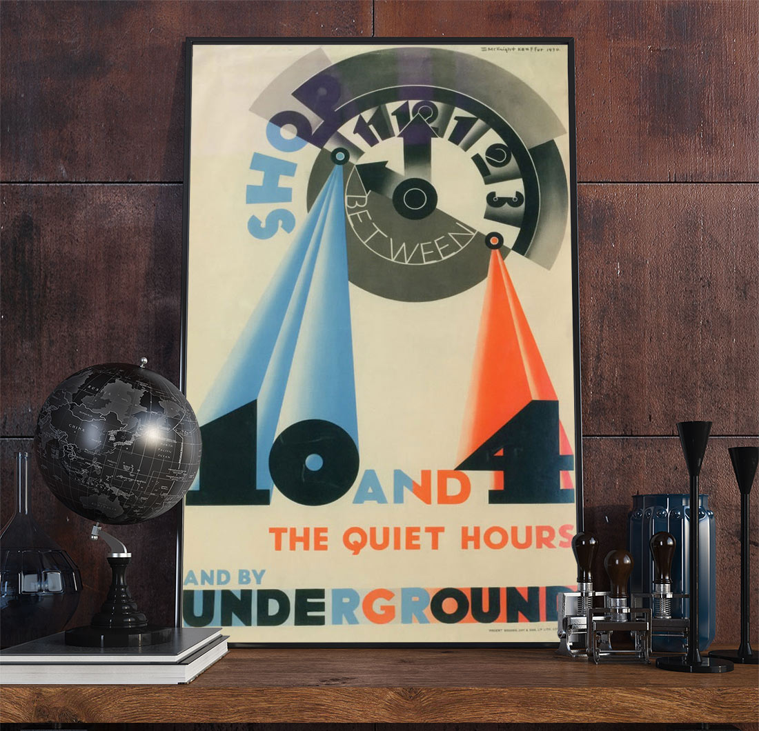 23railway Art Deco Poster