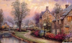 Village By Thomas Kinkade